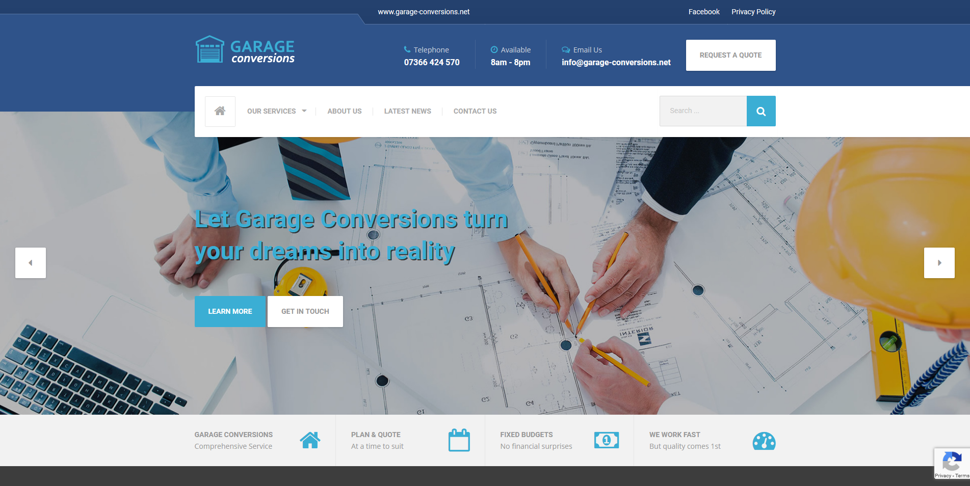 Garage Conversions New Website